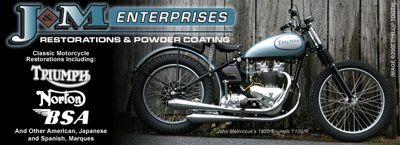 J & M Enterprises - specializing in classic motorcycle restorations & powdercoating